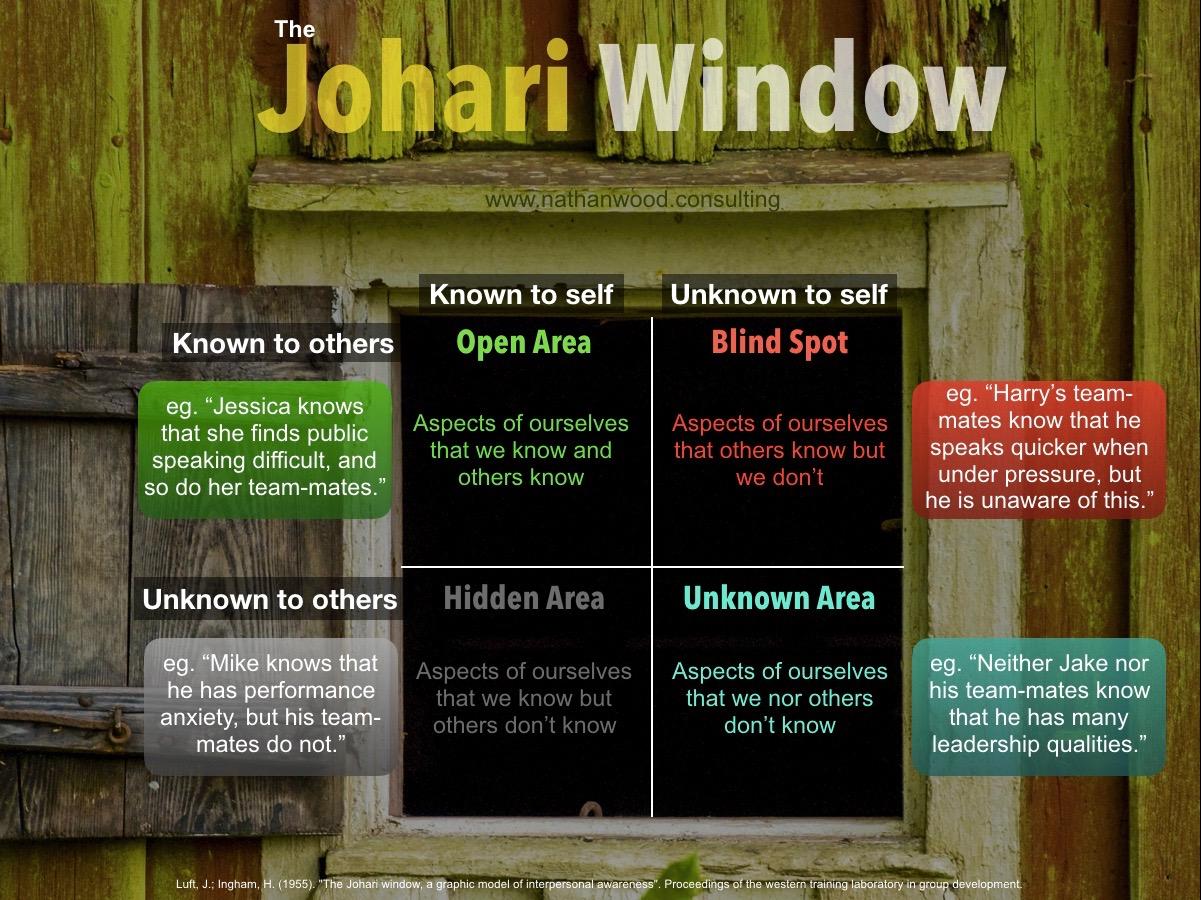 The Johari Window   Nathan Wood Consulting